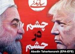 Iranski predsednik Hasan Rohani i predsednik SAD Donald Tramp
