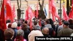 Protest socialist la Chișinău, 12 noiembrie 2015.