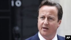 Ұлыбритания премьер-министрі Дэвид Кэмерон. Лондон, 9 тамыз 2011 ж.