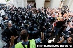 Акция оппозиции в Москве. 27 июля 2019 года