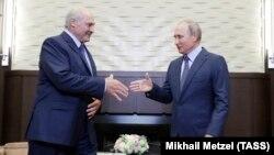 Перамовы Аляксандра Лукашэнкі з Уладзімірам Пуціным у Сочы. 22 жніўня 2018 году