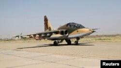 """Ирактағы Su-25 (""""Сухой"""") ұшағы. Бағдат, 1 шілде 2014 жыл. (Көрнекі сурет)"""