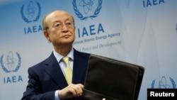 یوکیا امانو رئیس آژانس بینالمللی انرژی اتمی