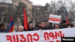 Акция протеста против армяно-турецких протоколов перед зданием Конституционного суда, 12 января 2010 г.