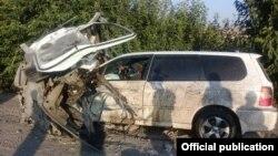 ДТП на трассе Бишкек - Ош. Таш-Комур, 20 июля 2017 года.