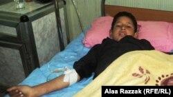 طفل مصاب في إنفجار يرقد في مستشفى بالحلة