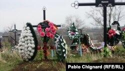 La mormântul lui Valeriu Boboc