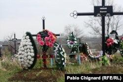 Mormântul lui Valeriu Boboc la Bubuieci