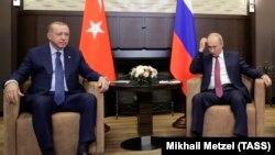 Зустріч президента Росії Володимира Путіна з президентом Туреччини Реджепом Тайїпом Ердоганом, архівне фото