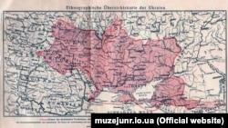 Крим на етнографічній оглядовій мапі України, виданій у Відні у 1916 році