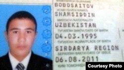 Гулистон давлат университетининг пахтада ўлган талабаси 19 яшар Шамсиддин Бобосаидовнинг паспортидан нусха.