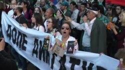 'Protest protiv diktature': 'Uživo' ispred RTS-a