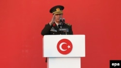 The head of the Turkish armed forces' General Staff, General Hulusi Akar