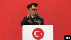 Turkish Defense Minister Hulusi Akar (file photo)