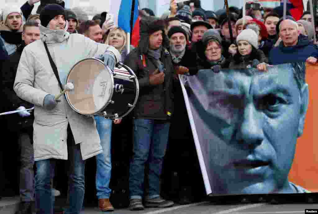Марш Немцова в Москве.