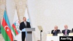 İlham Aliyev Olimpiya komitəsinin iclasında. Noyabr 2014