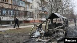 Мариуполь после обстрела пророссийскими сепаратистами 24 января 2015