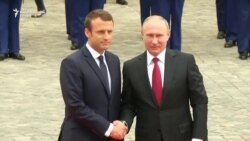 Susret Macrona i Putina u Versaju