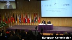 EU summit with their counterparts from six eastern countries in Riga, May 20, 2015