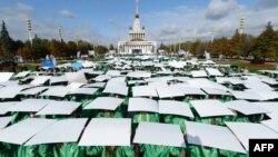Флэш-моб в Москве, приуроченный к 500 дням до начала Олимпиады в Сочи.