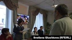 На суде по делу Макса Бокаева. Астана, 18 января 2018 года.