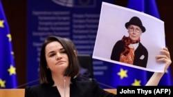 Lidera opoziției din Belarus, Svetlana Țihanovskaia