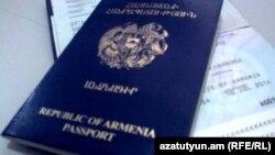 Armenia -- Armenian passports, 14Sep2011.