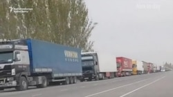 Free Food For Drivers Stranded By Kyrgyz-Kazakh Row