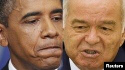 АҚШ Президенти Барак Обама ва Ўзбекистон Президенти Ислом Каримов (Озодлик фото-коллажи)