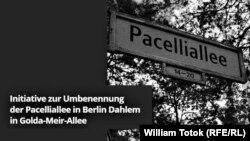 Petiţie pentru redenumirea aleii Pacelli din Berlin (pagină web)