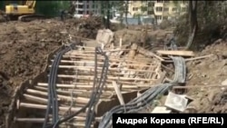 Оползень в поселке Блиново