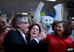 """Штаб немецких """"Зеленых"""" после оглашения результатов выборов в Европарламент, 26 мая 2019 года"""