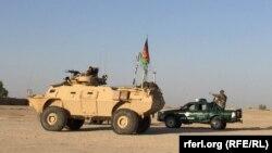 نیروهای افغان در ولسوالی نادعلی