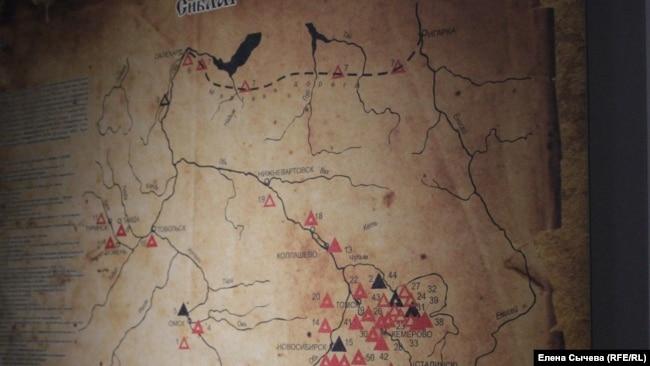 Карта Сиблага