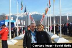 Петр и Юлия Парпуловы на Олимпиаде в Сочи
