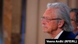 Controversial Austrian author Peter Handke (file photo)