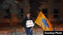 Адзіночны пікет у абарону народа Ўкраіны