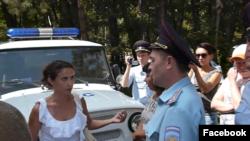 Поліція на мітингу «Обдурений Крим», Сімферополь, 20 серпня 2016 року