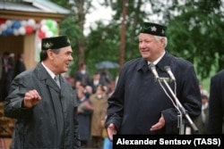 Минтимер Шаймиев пен Борис Ельцин. Татарстан, 1996 жыл.