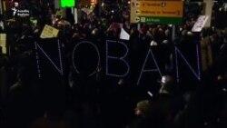 Trump-ın immiqrasiya qadağası- qarşı çıxanlar, dəstək olanlar