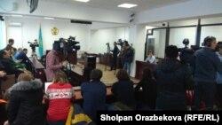 На предварительном судебном заседании по делу об убийстве титулованного казахстанского фигуриста Дениса Тена. Алматы, 25 декабря 2018 года.