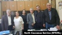Черкесские активисты в Дамаске, Сирия (Аскер Бора второй справа)