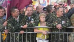 Ukrainian Veterans, Chornobyl Workers Protest Pension Cuts