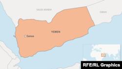 Yemen locator map