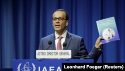 International Atomic Energy Agency (IAEA) acting head Cornel Feruta attends the opening of the International Atomic Energy Agency (IAEA) General Conference at their headquarters in Vienna, September 16, 2019