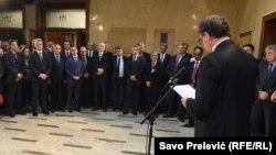 """Krivokapić tvrdi da je koncept ustavnog patriotizma poklekao pred """"primitivnim patriotizmom"""" aktuelne političke elite (Fotografija sa obilježavanja jedanaeste godišnjice proglašenja Ustava Crne Gore)"""
