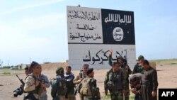 قوات كردية قرب الحويجة، 9 آذار 2015