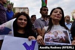 Акция протеста оппозиции в Баку. 11 сентября 2016 года.