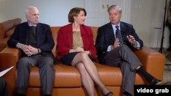 Dvojica republikanskih senatora John McCain i Lindsey Graham, te demokratski senator Amy Klobuchar za RSE su kazali kako će Kongres u 2017. nastaviti akciju protiv Rusije sa više sankcija