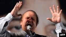 Наваз Шариф під час виступу перед своїми прихильниками, 7 травня 2013 року